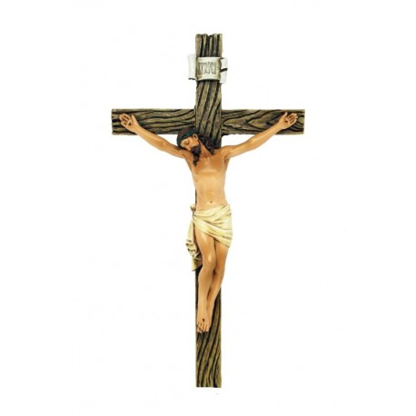 Cross in paste of wood