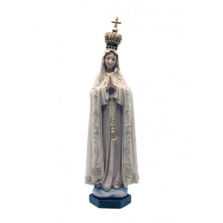 Madonna di Fatima con corona in pasta di legno