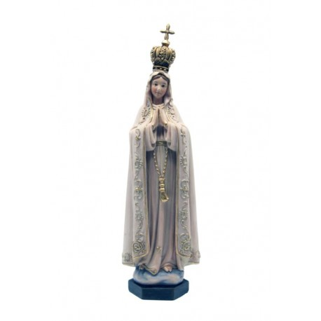 Madonna di Fatima realizzata in pasta di legno