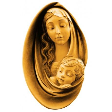 Relief Madonna aus Holz - mehrfach gebeizt
