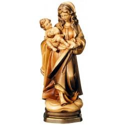 Madonna della fraternità, elegante figura scolpita in legno