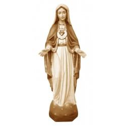 Sacro Cuore di Maria scolpito in legno pregevole