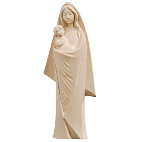 Madonna stilizzata finemente scolpita in legno