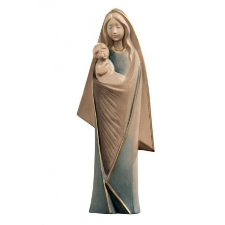 Madonna with Child Modern wood carved