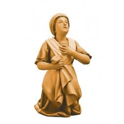 Bernardetta scolpita in legno d'acero e dipinta a mano con i colori ad olio