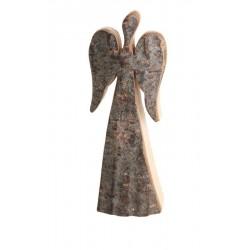 Schutzengel Rinde 9 cm; Dolfi Glücksengel aus Rinden Holz, Rindenengel mit rostig-veredelten Flügeln