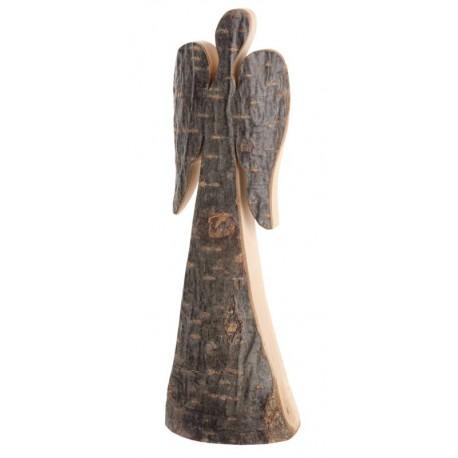 Angelo custode in legno 18 cm