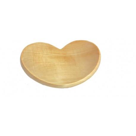 Herzschale aus Apfelholz 17,5 x 15 cm