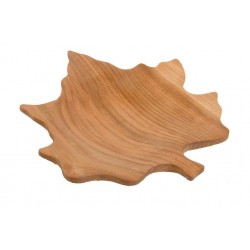 Maple leaf bowl in wood - Measure 9,6 x 9,2 inch - wood carved in Italy