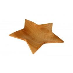 Ciotola a stella scolpita in legno pregiato