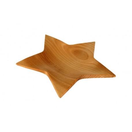 Sternschale aus Apfelholz 23 x 23 cm