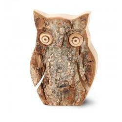 Gufo in legno e corteccia 6,5 cm