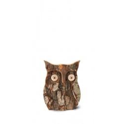 Owl with Bark wood