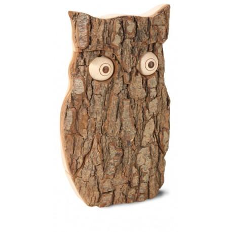 Gufo porta fortuna legno