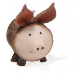 Holz-Schwein aus Holz