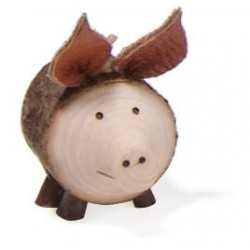 Lucky Pig in wood