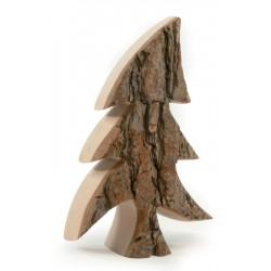 Alberi scolpiti nel legno con corteccia