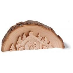 Presepe di forma curva e legno levigato