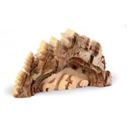 Presepe intagliato nel legno 18 x 11 cm