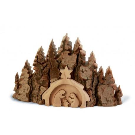 Nativity Scene wood 7,2 X 4,4 inch
