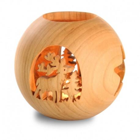 Lanterna con motivo in legno