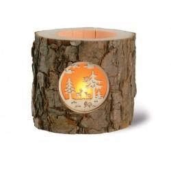 Lanterna portacandela in legno
