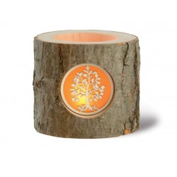 Wooden Candle Holder with  one Laser Patterned Window - Dolfi best Mothers Day Gifts - Made in Italy