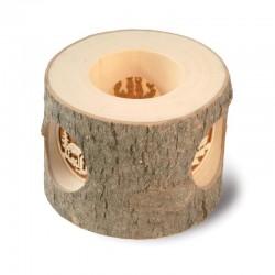 Lanterna a tronco con motivo finemente intagliato