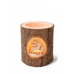 Wooden Candle Holder Christmas