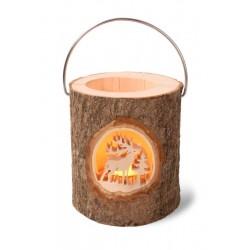 Rustic wood Lantern with Metal Handle