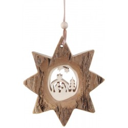 Wooden Nativity Star with String