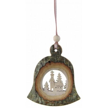 Addobbo a campana di legno