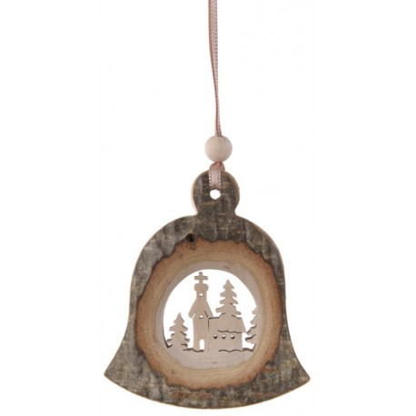 Bell in wood for decoration