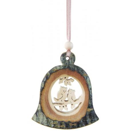 Rinden Hänger Glocke aus Holz