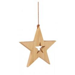 La stella scolpita in legno veglia sul giusto sonno