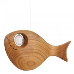 Pesce finemente scolpito con swarovski
