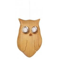 Finely carved owl with Swarovski stones