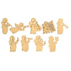 Angeli musicisti scolpiti in legno