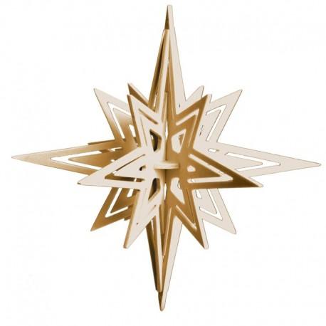 Filigrana di stelle in legno