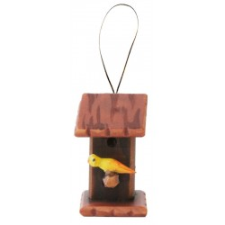 Wooden Bird-House - color