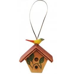 Vogelhäushen - Leicht mit Ölfarben lasiert