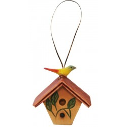 Wooden Bird-House decoration - color