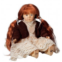 EVA; Dolfi Sammler Puppe aus Holz aus Südtirol, diese Holzfigur von echten Grödner Holzschnitzer