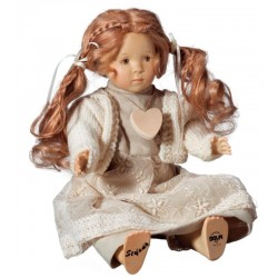 Wooden Doll Stefania Collectible Figure carved maple wood - Dolfi Unique Anniversary Gifts for Him