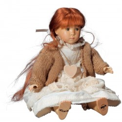 Wooden Doll Alessia Collectible Figure carved in maple wood best Gift for best Friend, Made in Italy