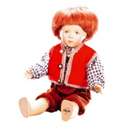 Collectible Wooden Doll Peter - Dolfi Cheap Birthday Gifts - Made in Italy