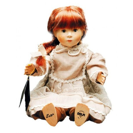 Collectible Doll in wood Ester