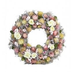 Summer wooden Wreath