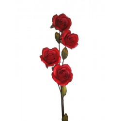 Die rote Rose in Holz