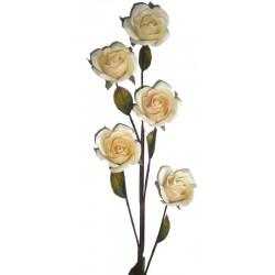 Die weisse Rose aus Holz